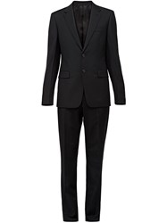 Prada Slim Fit Two Piece Suit Black