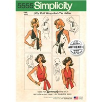 Simplicity 'S Jiffy Knit Wrap And Tie Halter 5555 One Size