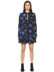 Just Cavalli Star Printed Viscose Chiffon Dress