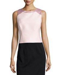 Halston Sleeveless Structured Top Sorbet