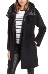 Trina Turk Coat With Hooded Bib Black