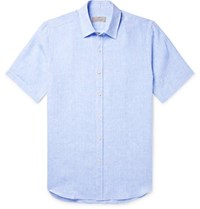 Canali Linen Shirt Light Blue
