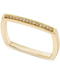 Macy's Diamond Accent Square Band Ring In 14K Gold Rose Gold Or White Gold Yellow Gold