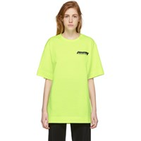 Juun.J Yellow Logo T Shirt