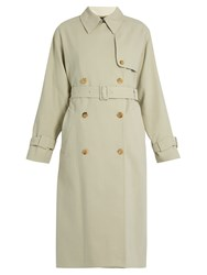 The Row Romtin Cotton Trench Coat Light Beige