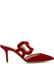 Rupert Sanderson Mannequin Linked Chain Mules Red