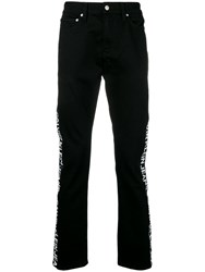 Ck Calvin Klein Jeans Regular Jeans With Brand Stripe To The Side Black