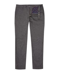 Ted Baker Men's Ricket Textured Chino Charcoal