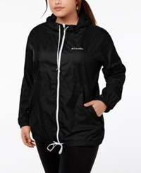 Columbia Plus Size Flash Forward Windbreaker Matte Black