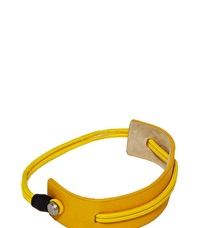 Karmuel Young 25Mm Leather Shoe Cuff Yellow