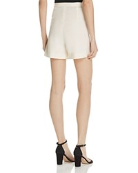 Theory Tarrytown High Waist Shorts Shell White