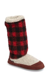 Acorn Women's Slouch Slipper Boot Buffalo Check