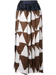 Vivienne Westwood Anglomania Printed Skirt Women Viscose 40 Brown