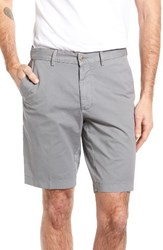 Brax Men's Flat Front Stretch Cotton Shorts Grey