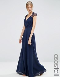 Asos Tall Kate Lace Maxi Dress Navy