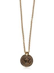Versace Medusa Coin Vintage Gold Chain Necklace