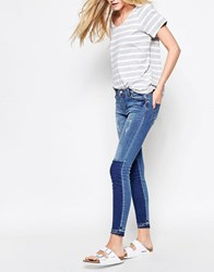 Vila Two Tone Block Skinny Jeans Blue