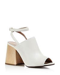 Marni Ankle Strap Block Heel Sandals White