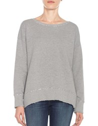 Joe's Jeans Leira Hi Lo Sweatshirt Heather Grey