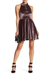 Romeo And Juliet Couture Halter Skater Dress Purple