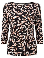 Precis Petite Sasha Print Wrap Top Multi Black