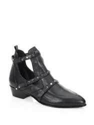 Jimmy Choo Harley 30 Tle Cutout Leather Booties Black