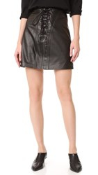 Derek Lam 10 Crosby Miniskirt With Lacing Black