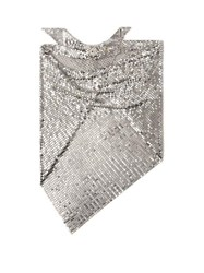 Paco Rabanne Chainmail Mesh Triangle Scarf Silver