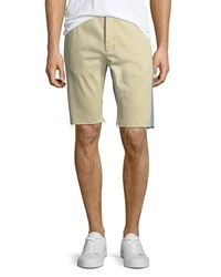 Balenciaga Chino Denim Raw Edge Shorts Blue