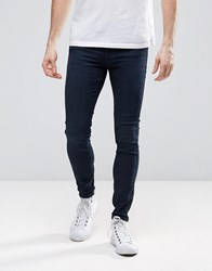 Dr. Denim Dr Dixy Extreme Super Skinny Jeans In Organic Cotton Dark Retro Blue