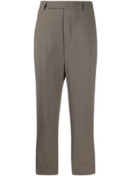 Rick Owens Cropped Tailored Trousers Grey