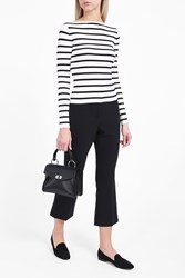 Theory Women S Blasina Stripe T Shirt Boutique1 Eggshell Black
