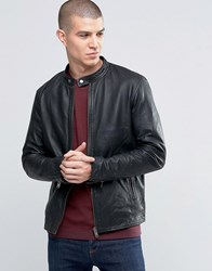 Selected Homme Kyle Leather Jacket Black