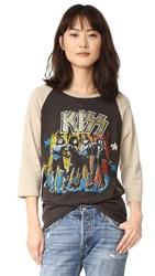 Madeworn Rock Kiss Raglan Tee Dirty Black