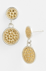 Anna Beck 'Gili' Double Disc Earrings Gold