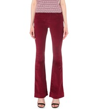 Maje Pavory Flared Mid Rise Corduroy Jeans Bordeaux