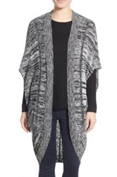 Sun And Shadow Long Cocoon Cardigan Black