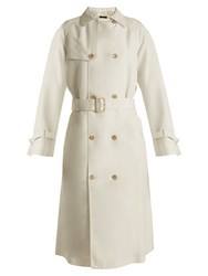 Joseph Double Breasted Silk Trench Coat Ivory