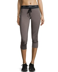 Asics Abby Cuff Capri Pants Heather Iron