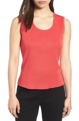 Ming Wang Scoop Neck Knit Tank Zinnia