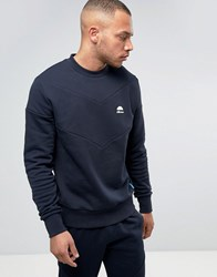 Ellesse Italia Sweatshirt With Chevron Panel Navy