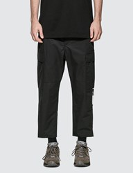 Uniform Experiment Hem Cut Off Cropped Cargo Pants Black