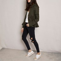 River Island Womens Khaki Green Ri Studio Cropped Utility Jacket