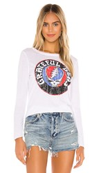 Chaser X Revolve Grateful Dead Steal Your Face Vintage Jersey Tee In White.