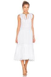 Rebecca Taylor Sleeveless Voile Lace Dress White