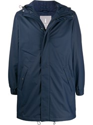 Rains Hooded Raincoat Blue