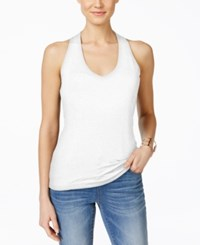 Inc International Concepts V Neck Halter Top Only At Macy's Bright White
