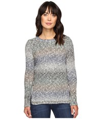 Lucky Brand Omber Lace Up Pullover Multi Women's Clothing