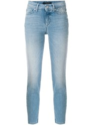 Cambio Stonewashed Cropped Jeans Blue