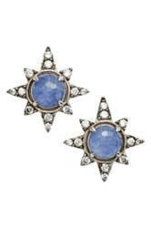 Nadri Holiday Star Stud Earrings Purple
